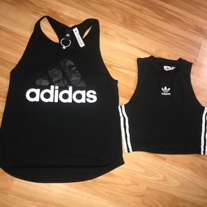 Set of 2 Adidas Tops size small